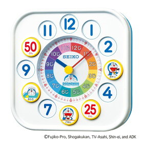 送料無料 ドラえもん知育時計 キッズ用掛け時計 置き時計 白 CQ319W  掛置兼用 【あす楽対応】