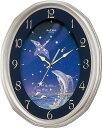 リズム時計 Small World(スモールワールド) 電波掛け時計 ネムリーナファンタジーR  4MY659RH19★星座とイルカのデザイン【あす楽対応】