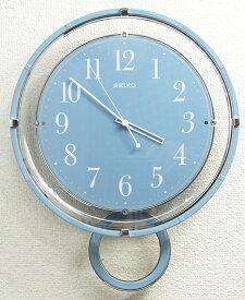 セイコー ゆっくり振り子時計 電波掛時計 ライトブルー PH205L【動画あり】【あす楽対応】