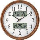 シチズン 電波掛時計 ピュアカレンダーM617 4FY617-023 茶色【あす楽対応】
