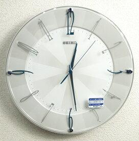 送料無料 訳あり特価!セイコークロック 電波掛け時計 「スタンダード」スイープセコンド KX214W 【あす楽対応】