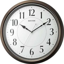 送料無料 リズム時計 掛け時計 オルロージュM800 スタンダード 見易い文字盤 連続秒針 8MG800SR06 ダークブラウン 【あす楽対応】茶色
