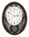 送料無料 スモールワールド メロディ電波掛時計(18曲入)4MN523RH06 リズム時計 シチズン