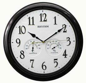 リズム時計 温湿度計も搭載。カジュアル連続秒針クォーツモデル オルロージュインフォートM37 茶メタリック 8MGA37SR06【あす楽対応】