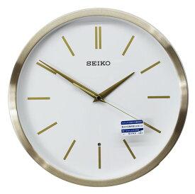 セイコー 電波掛け時計 スタンダード スイープセコンド アルミ枠 ゴールド KX226G【あす楽対応】
