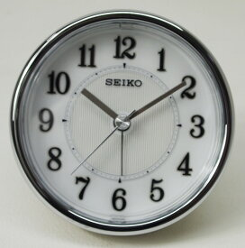 セイコークロック クオーツ目ざまし時計(薄金色パール塗装)コンパクト KR895S【あす楽対応】