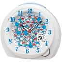セイコークロック 目覚まし時計 ドラえもん 50周年記念 白パール CQ803W 【あす楽対応】