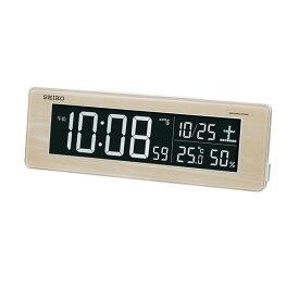 セイコークロック SEIKO 目覚まし時計 置き時計 電波時計 DL210A(薄茶木目模様) シリーズC3 デジタル セイコー目覚まし時計 【あす楽対応】