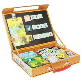 タイガートライブ 英語 アルファベット 磁石 パズル 知育玩具 動物の名前のABCパズル 4歳 5歳 誕生日 プレゼント