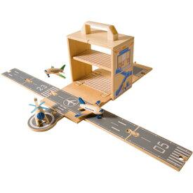 タイガートライブ 飛行機 ヘリコプター 空港 飛行場 木のおもちゃ ウッドボックス エアポート 3歳 4歳 5歳 知育玩具 誕生日プレゼント