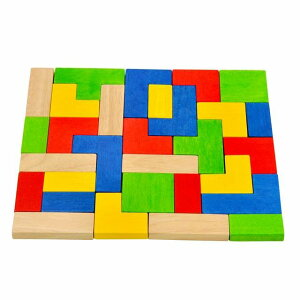 スタッキングパズルズ テトリス パズル 知育玩具 3歳 4歳 5歳 誕生日 プレゼント 木のおもちゃ