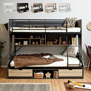 【割引クーポン配布中】親子で使える 二段ベッド Lagos(ラゴス) シングル+セミダブル 4色対応 二段ベット 2段ベッド 2段ベット 親子二段ベッド 親子2段ベッド 親子ベッド ベッド 添い寝 木製