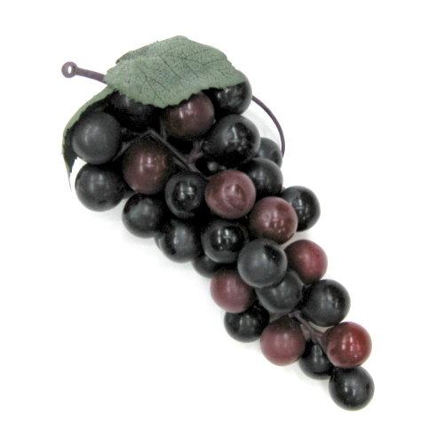 造花 ぶどう・グレープの実 17cm ワイン色