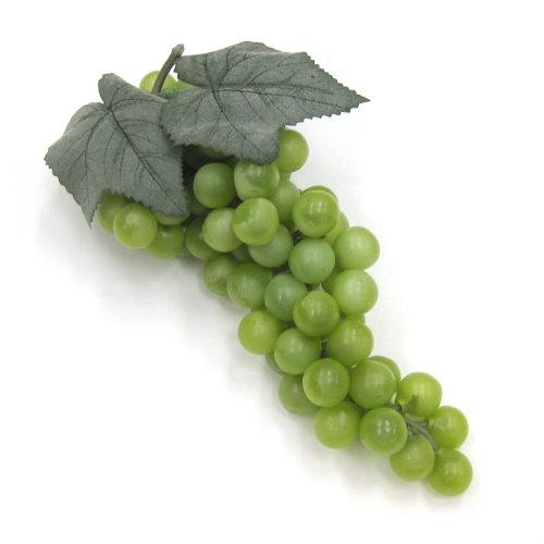 造花 ぶどう・グレープの実 25cm グリーン色