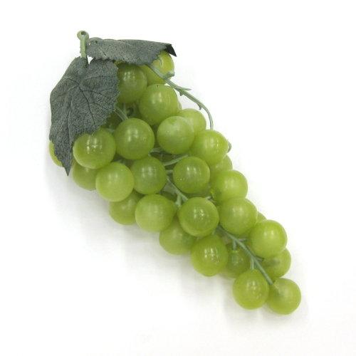 造花 ぶどう・グレープの実 17cm グリーン色