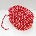 紅白ロープ(紅白ひも) 太さ1cm 切り売り 【あす楽対応】