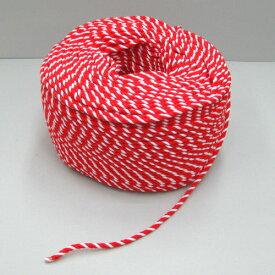 紅白ロープ(紅白ひも) 太さ6mm 切り売り 【あす楽対応】