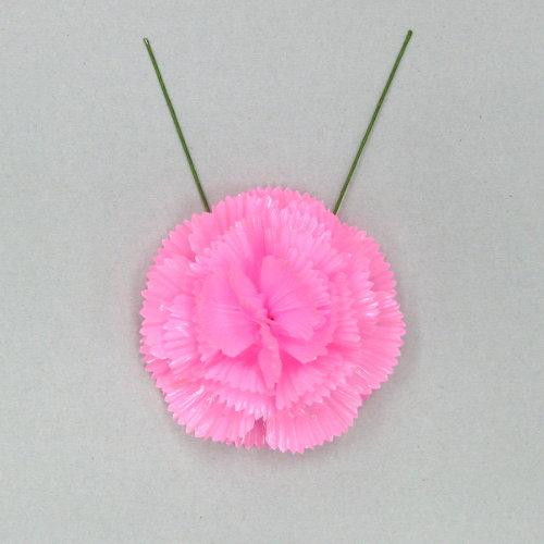 花笠用造花 カーネーション ピンク色