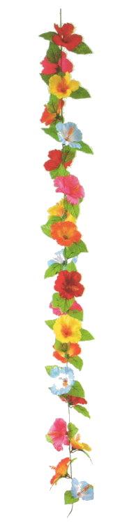 造花 ハイビスカスカラフルコード 180cm