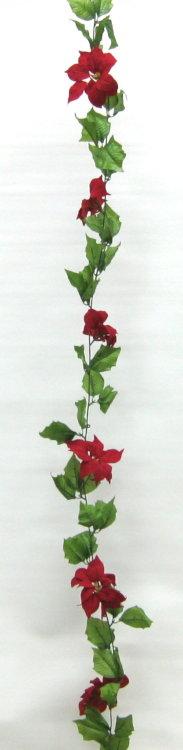 造花 ポインセチアコード 180cm