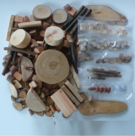 クラフト素材アソート(大)内容量 約1kg袋サイズ250x300(ミリ)(赤ラベル部除く) 夏休み 工作 キット 自由工作 自由研究 手作り 工作 小学校 木工 ハンドクラフト 天然木 材料