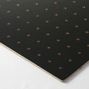 【送料込み】有孔 ボード (黒)厚さ4mm長さ900mm奥行450mm穴5ミリ、穴ピッチ25ミリ約0.9kg パンチング ボード DIY