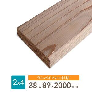 杉ツーバイ材38x89x2000厚みx幅x長さ(ミリ)
