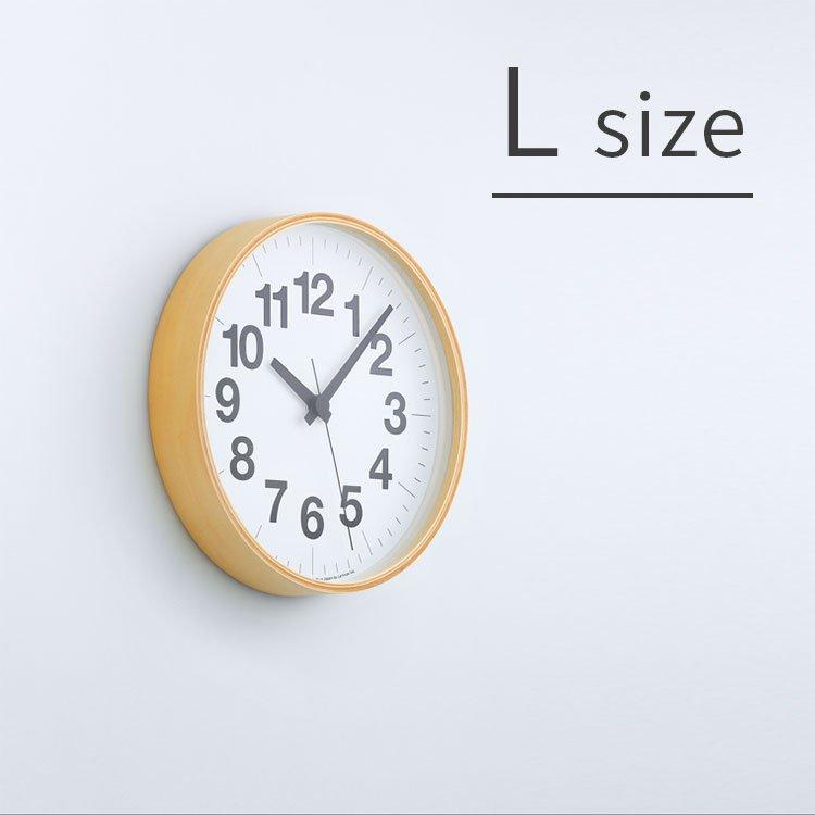 掛け時計 ナンバーの時計 Lサイズ Lemnos[レムノス] YK16-03 L【スイープムーブメント スイープセコンド 壁掛け時計 時計 壁掛け プライウッド ビンテージ ナチュラル 北欧 テイスト デザイナーズ かわいい おしゃれ インテリア 新生活 木製 新築 出産】