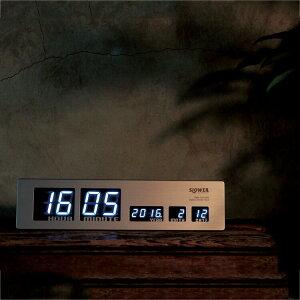 【ポイント10倍】LED CLOCK アスカリ Ascari【掛け時計 置時計・掛け時計 壁掛け時計 デジタル時計 置き時計 カレンダー 木 ゴールド LED シンプル 壁掛け電波時計 おしゃれ モダン メンズ 卓上 インテリア プレゼント プレゼント 新築祝い】