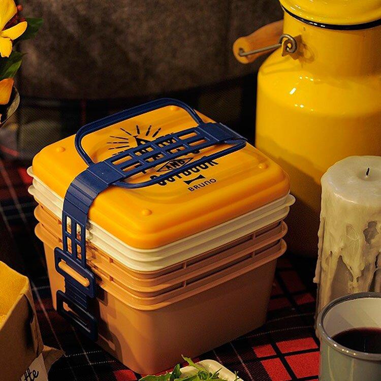 【ポイント10倍】BRUNO ブルーノ 3段 ランチボックス 取り皿 BHK092【お弁当箱 スタッキング ファミリーランチ 弁当箱 重箱 便利グッズ ピクニックボックス ランチBOX 保冷 大容量 ピクニック 行楽 キャンプ おしゃれ かわいい 北欧 テイスト 運動会 アウトドア お花見】
