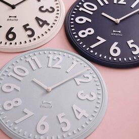 【ポイント10倍】【送料無料・一部地域を除く】掛け時計 エンボスウォールクロック BCW013【壁掛け時計 おしゃれ 時計 壁掛け デザイン シンプル ポップ ストライプ 壁掛け時計 かわいい 可愛い プレゼント 誕生日 新築祝い 敬老の日 ギフト】