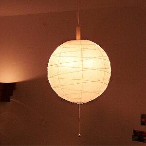 和風照明 和紙提灯・クロス ペンダントライト 2灯 ボールタイプ【和 アジアン 天井照明 間接照明 LED対応 6畳用 照明器具 ルームライト ペンダントライト 和室 天井 照明 おしゃれ ペンダント