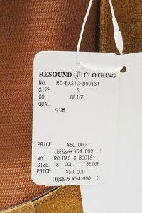 メンズRESOUNDCLOTHINGリサウンドクロージングRC-BASIC-BOOTS1SLAPサイドゴアブーツ[BEIGE]公式通販8月下旬入荷予定