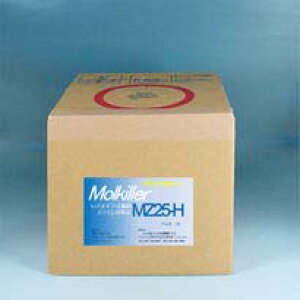 一般家庭、業務用兼用の5L入り。少し大き目の浴槽用 非塩素系の除菌剤「モルキラーMZ25H」です。「みっちゃんMZ25H」と同じ5L箱入版です。1回入れるだけで数日間は水の入れ替えなしで除菌効