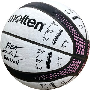 molten モルテン バスケットボール 中学生以上の男子 7号球 人工皮革 FIBAスペシャルエディション フルカラーver ホワイト×ブラック B7G3700-S0J