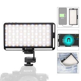 LED ビデオライト MOMAN 180LED 撮影用ライト 照明ライト 4500mAh 電源出力可能 CRI96+ 3000-6500K 定常光ライト キャンプ 車中泊に適用 物撮り 説明書付き&1年安心保証