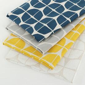 北欧 綿麻キャンバス【サークル】デザインサークル柄 北欧風プリント 生地 布 おしゃれ かわいい 麻混 生地幅110cm50cm以上、10cm単位での販売です。購入例50cmの場合は数量5です