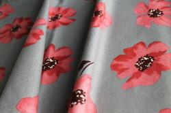 生地日本製momen-t綿麻ソフリー加工木の実と花柄新柄生地幅110cm50cm以上、10単位の販売です。購入例)数量5=50cm、数量17=1.7m