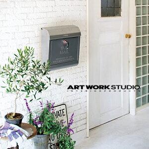 【全8色】ARTWORKSTUDIO(アートワークスタジオ):U.S. Mail box 文字あり(ユーエスメールボックス:横型・キーロック)スチール/レトロ/メールボックス/新居祝い/新築祝い/DIY/ガーデニ