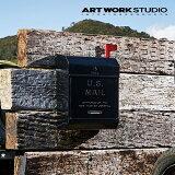 ARTWORKSTUDIO(アートワークスタジオ):U.S.Mailbox2文字あり(ユーエスメールボックス2:縦型・キーレス)