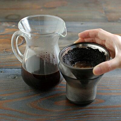 KINTOキントー:コーヒーカラフェセット(ステンレス)600ml