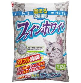 常陸化工 固まる紙製猫砂 ファインホワイト 12L