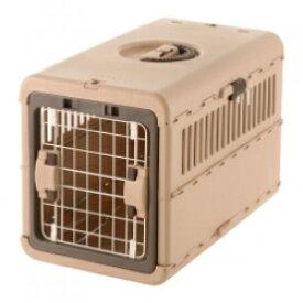 リッチェル キャンピングキャリー 折りたたみM ダークブラウン/ライトピンク/アイボリーアウトドア 小型犬 猫 キャリー