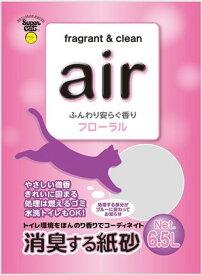 スーパーキャット air 消臭する紙砂 フローラル 6.5L