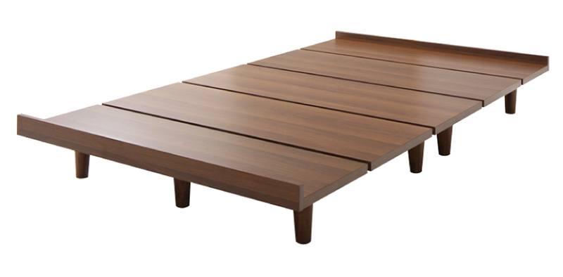 ショート丈 デザインボードベッド【Catalpa】キャタルパ 木脚タイプ【フレームのみ】シングル