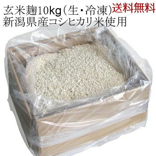 【送料無料】業務用 玄米麹 新潟県産コシヒカリ 五ぶつき玄米使用 10kgダンボール入り 生麹・冷凍
