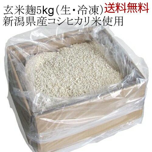 【送料無料】業務用 玄米麹 新潟県産コシヒカリ 五ぶつき玄米使用 5kgダンボール入り 生麹・冷凍