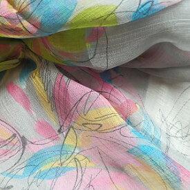 【レディース】【ストール】【スカーフ】【メール便送料無料】 薄手 ストール   グレー  花柄 シンプルストール