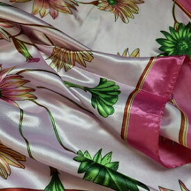【レディース】【スカーフ】【メール便送料無料】スカーフ 花柄  ピンク 訳あり商品 大特価