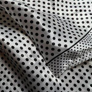 【レディース】【スカーフ】【メール便送料無料】スカーフ  シンプル 水玉柄 ホワイト  訳あり商品 大特価